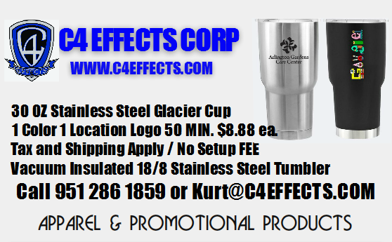 30 oz Glacier Cup - 1 Color 1 Location Logo